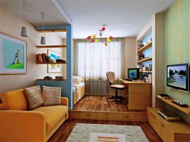 Иногда перепланировать малогабаритную квартиру возможно только зонированием помещения