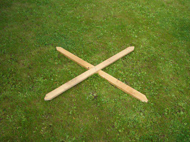 Крестовина - шаблон для дальнейшей работы