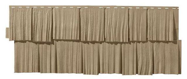 Оригинальное решение - цокольный  сайдинг, имитирующий деревянную дранку
