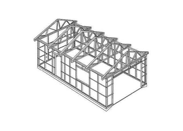 Примерная схема каркаса гаража