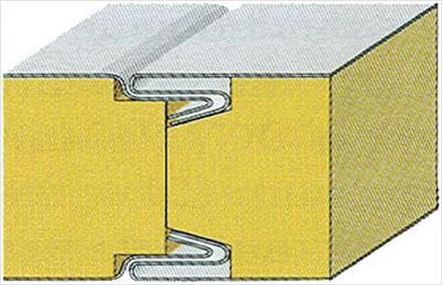Один из видов замковых соединений панелей