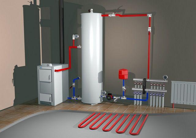 """В закрытую систему отопления можно включить и """"теплые полы"""""""