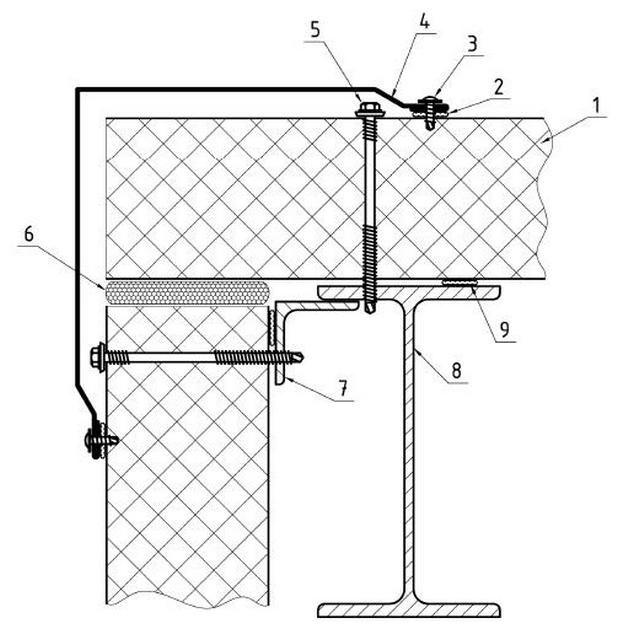 Схема правильного углового стыка панелей