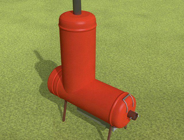 буржуйки из газовых баллонов фото