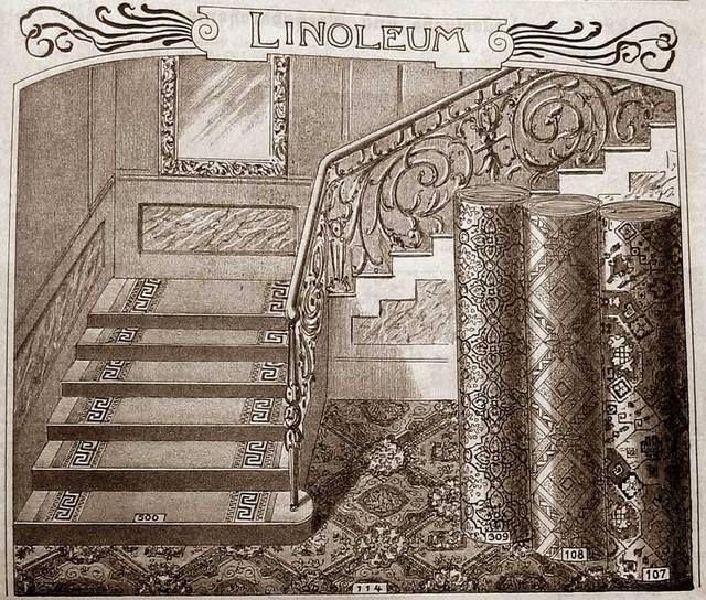 Линолеум известен человечеству со второй половины XIX века