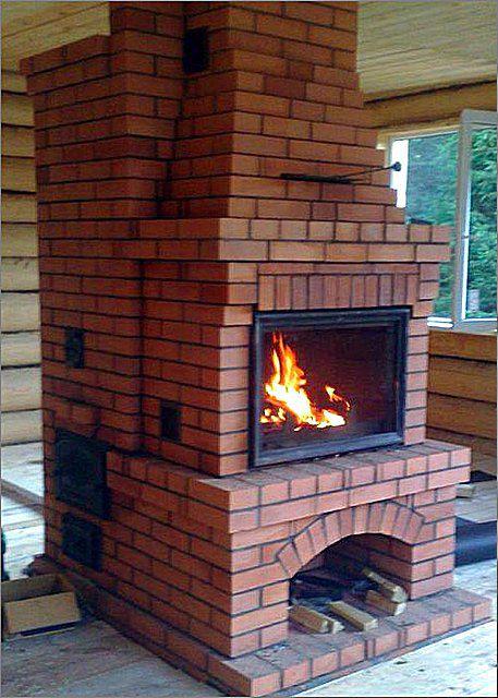Многофункциональная печь-камин - и для кухни, и для создания уюта