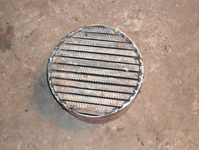 Самодельный колосник из металлических прутков