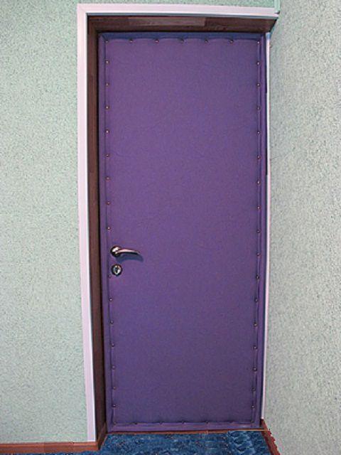 Внутренняя часть двери обита