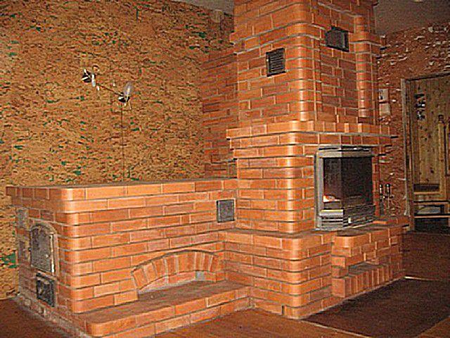 Печь-камин с удобной лежанкой