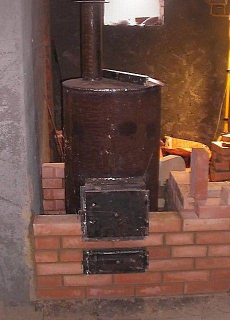 Металлическая печь обложить кирпичом своими руками 48