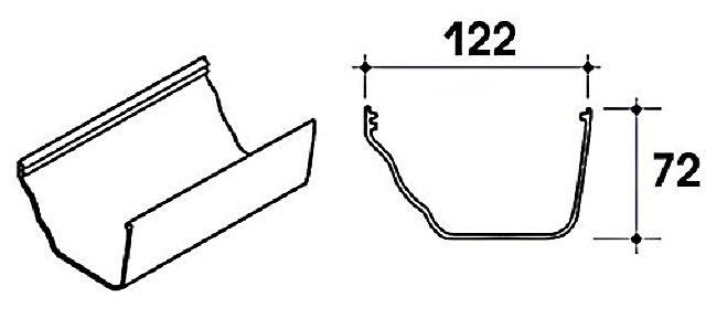 Коробчатый желоб также можно изготовить самостоятельно, опираясь на указанные размеры