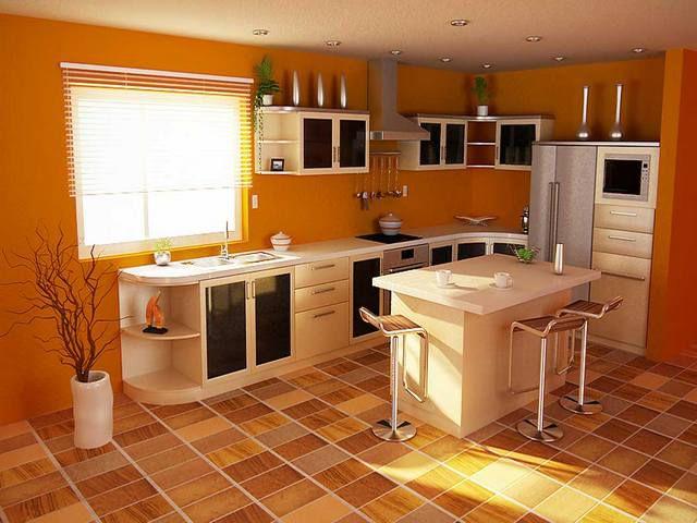 Некоторые виды бытового линолеума можно настилать на кухнях