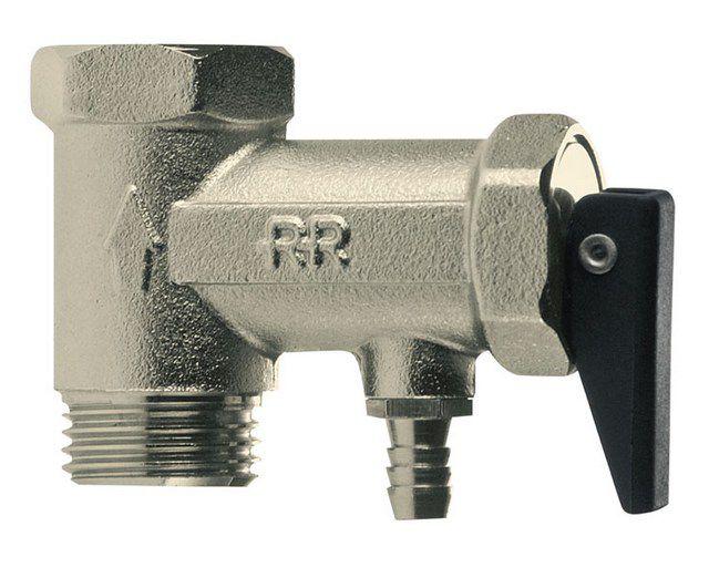 Обязательный элемент подключения к трубе холодной воды - предохранительный клапан