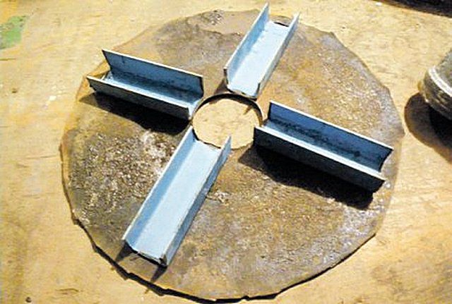 Каналы распределения воздуха, изготовленные из швеллера