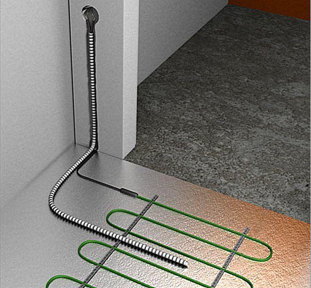 Образец установки термодатчика