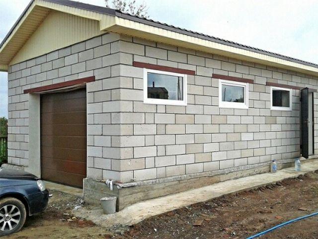 Строительство гаража из