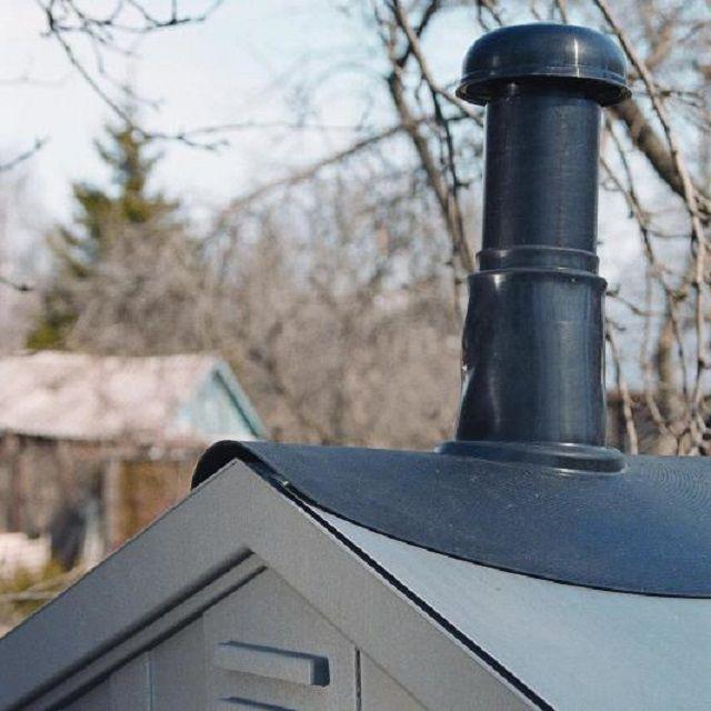 Выход вентиляционной трубы на улице должен быть прикрыт от попадания снега, дождевой воды и мусора.
