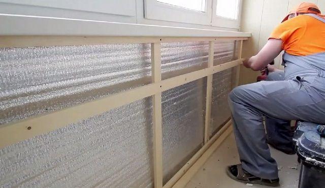 Установка деревянной обрешетки на стены