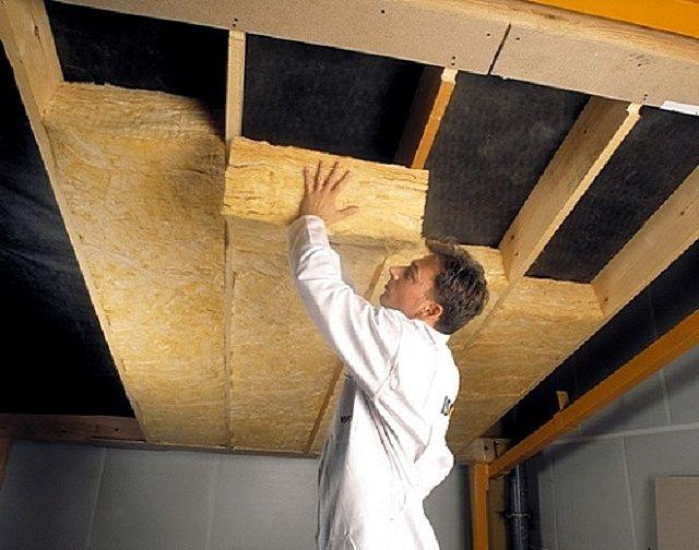 Термоизоляция потолка сауны