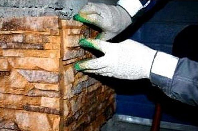 Как сделать угол из искусственного камня