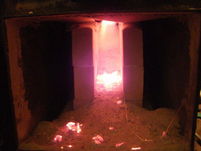 Пламя в камере сжигания