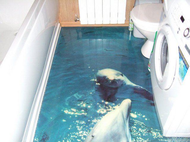 Такие дельфины будут уместны, наверное, только в ванной комнате