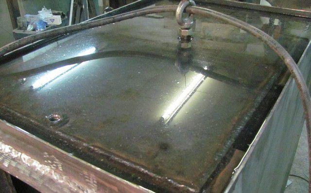 Первичное испытание герметичности водой