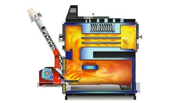 Котел отопления на твердом топливе длительного горения