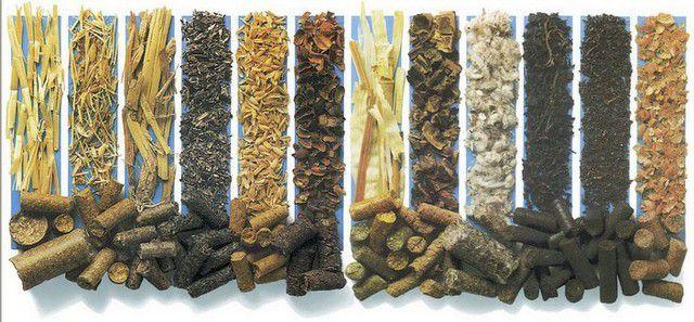 В качестве сырья для изготовления пеллет могут применяться самые различные материалы