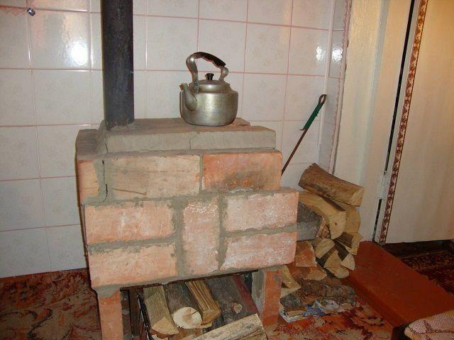 Простейшая печь из кирпича своими руками