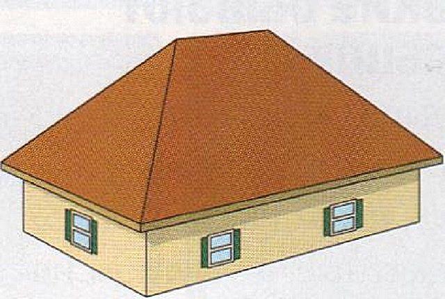 Так выглядит простейшая вальмовая крыша