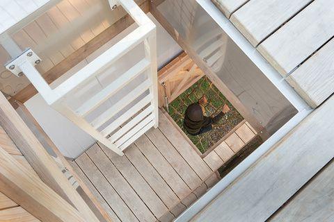 Вариант лестницы для домика