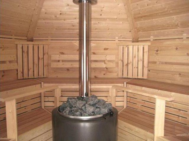 Печь-каменка с внутренним дымоходом