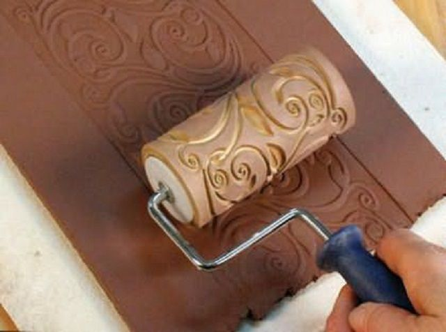 Валик для нанесения узорного рисунка