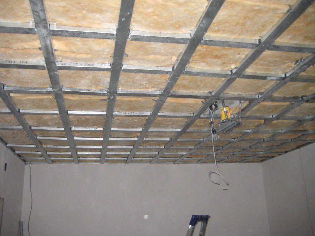 Потолок из гипсокартона своими руками материалы