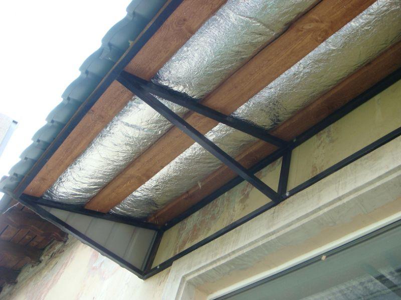 Вариант конструкции односкатной крыши