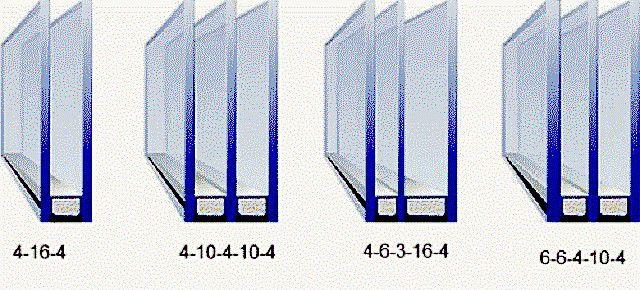 Несколько примеров стеклопакетов