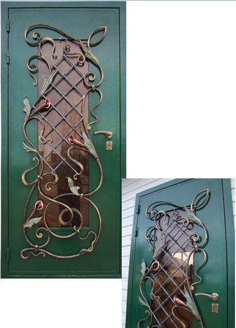 Элементы ковки входной двери своими руками