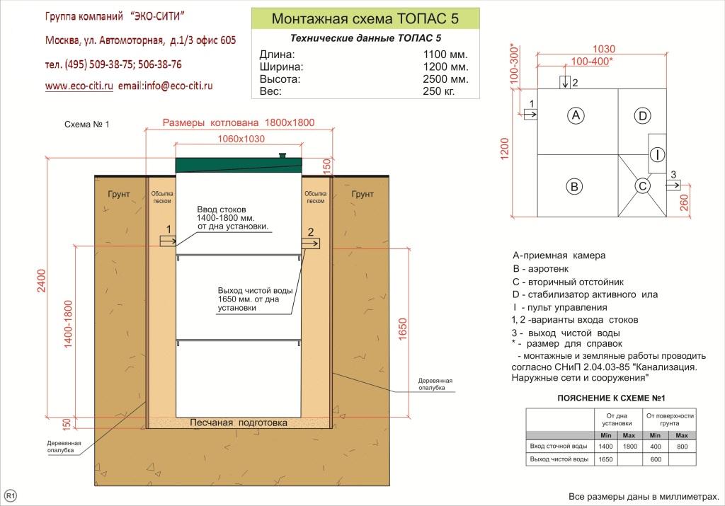 Монтажная схема ТОПАС 5