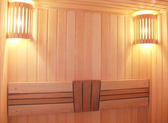 Оформление освещения в сауне