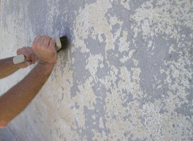 Удаление старых слоев побелки и покраски
