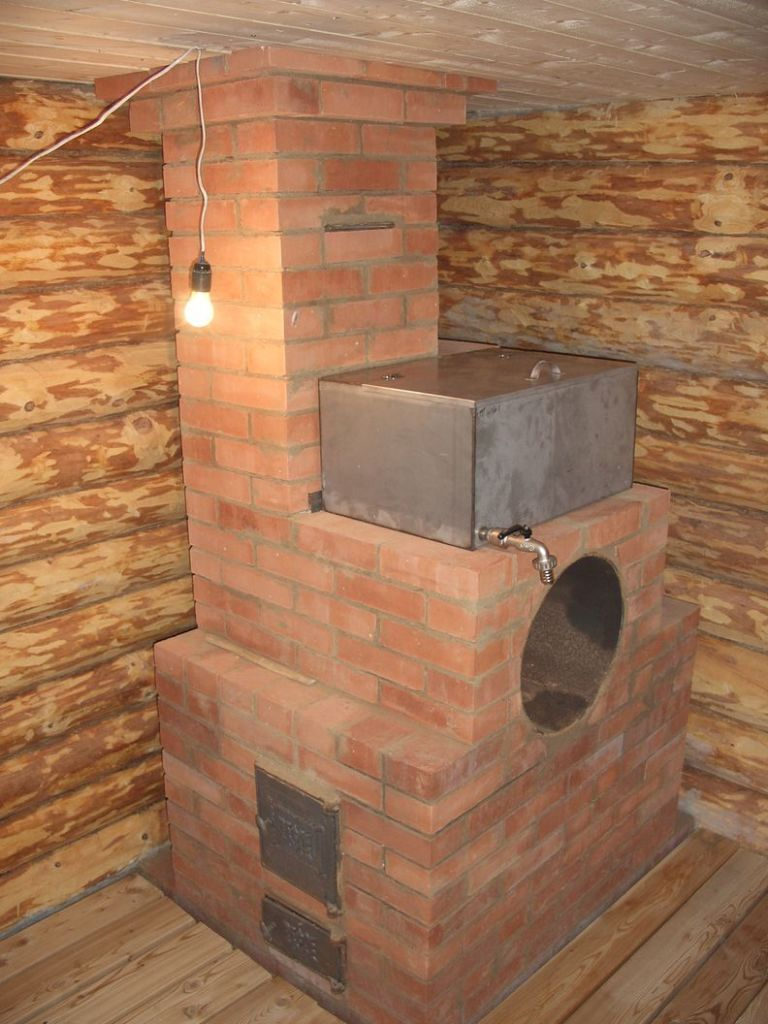 Строим печь для бани своими руками из кирпича