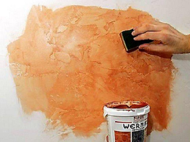 Как сделать из обычной краски фактурную