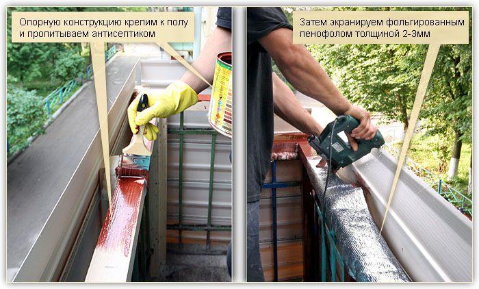 Отделка лоджии снаружи пошаговая инструкция