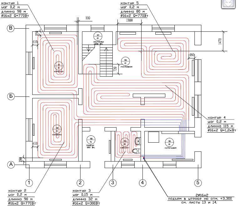 Проектирование системы теплого