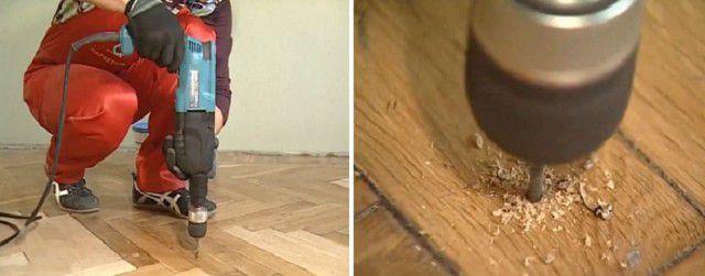 Скрипящие плашки можно зафиксировать к полу на анкерные крепления