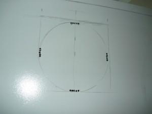 Разметка установки вытяжного вентилятора