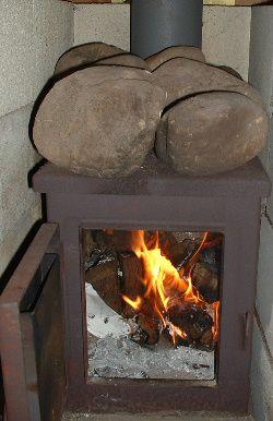 Самодельная муталлическая печь