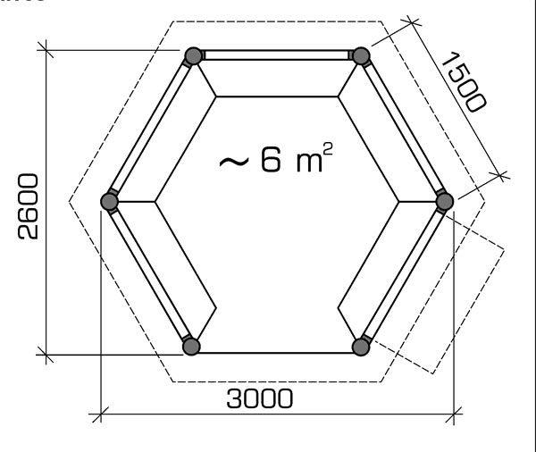 Шестиугольная беседка своими руками чертежи фото