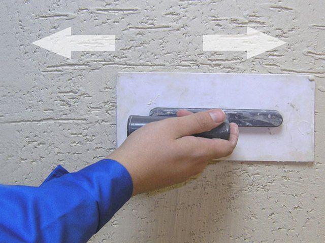 Создание рельефа с использованием зернистой штукатурки